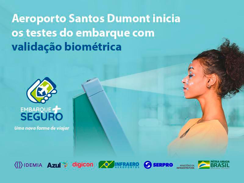 Aeroporto Santos Dumont é o primeiro do país a testar embarque 100% digital